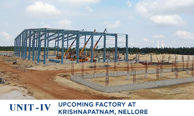 Upcoming Factory at  Krishnapatnam, Nellore